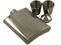 Deluxe Engravable Stainless Steel Flask Gift Set