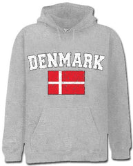 Denmark Vintage Flag International Hoodie