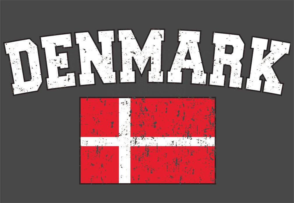 Denmark Vintage Flag International Mens T-Shirt