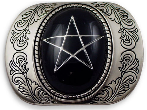 Designer Pentagram Buckle With FREE Leather Belt