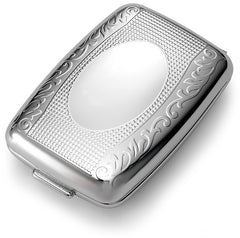 Designer Polished Chrome 2 Compartment Pill Box