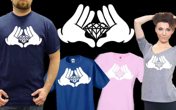 Diamond Cartoon Hands Men's T-Shirt