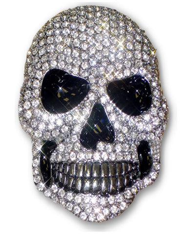 Diamond Rhinestone Skull Belt Buckle with FREE Belt