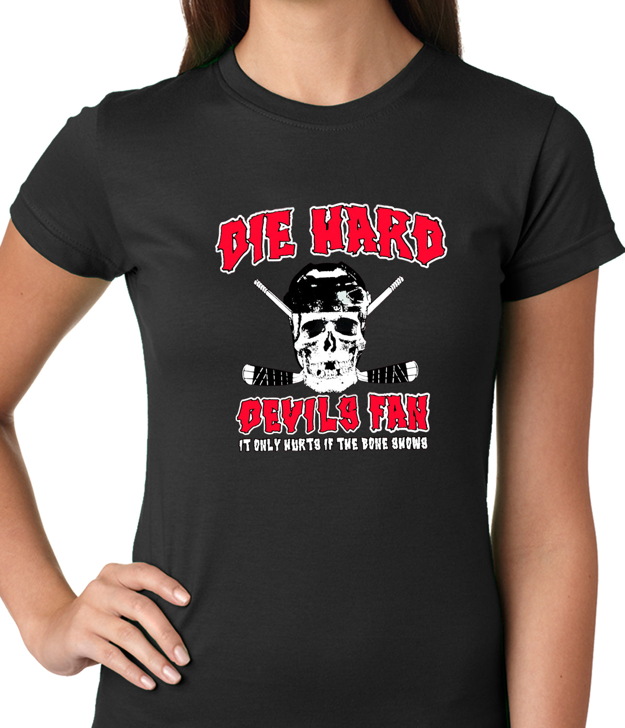 Die Hard Devils Fan Hockey Girls T-shirt