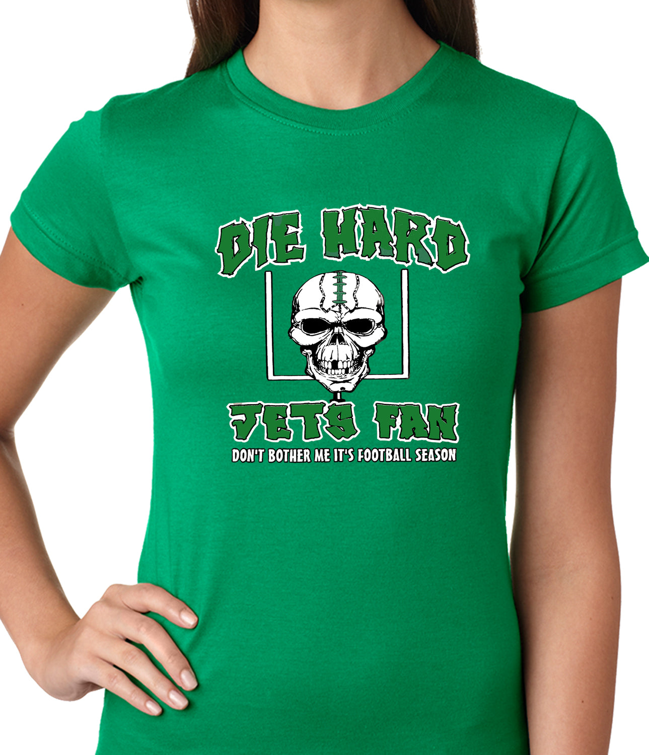 Die Hard Jets Fan Football Girls T-shirt