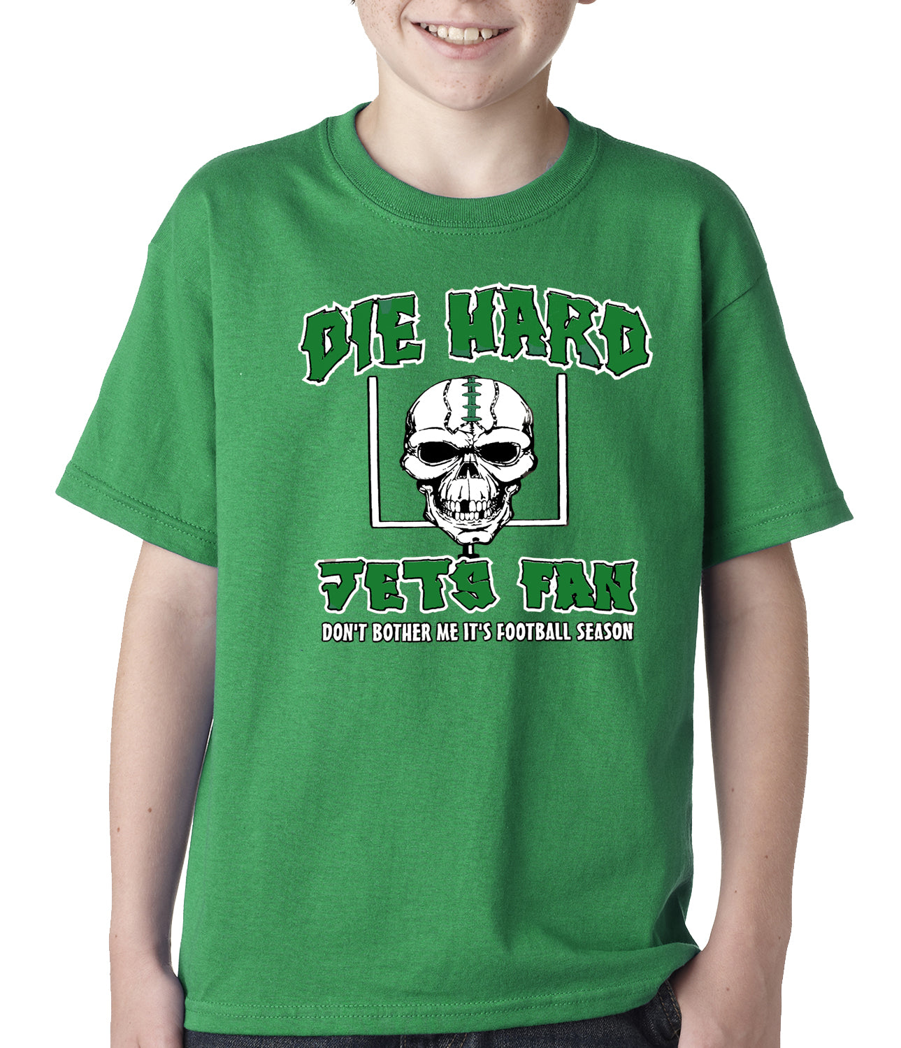 Die Hard Jets Fan Football Kids T-shirt