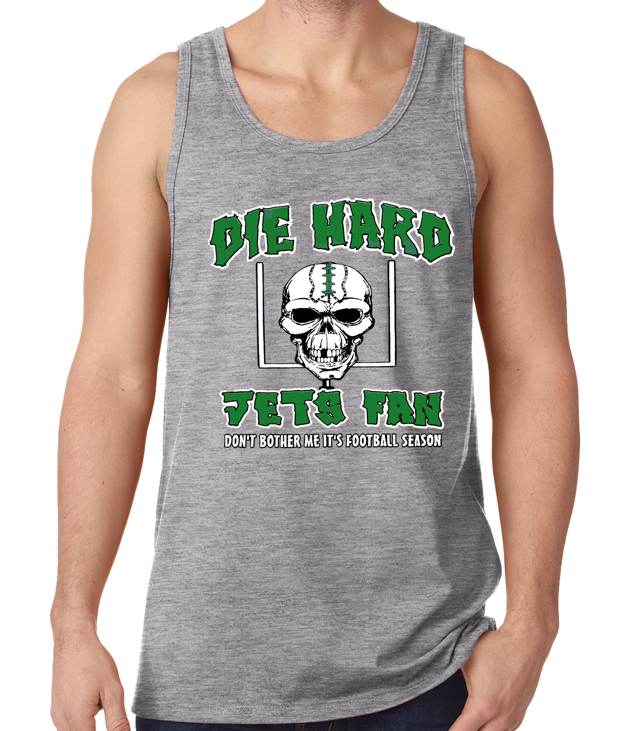 Die Hard Jets Fan Football Tank Top