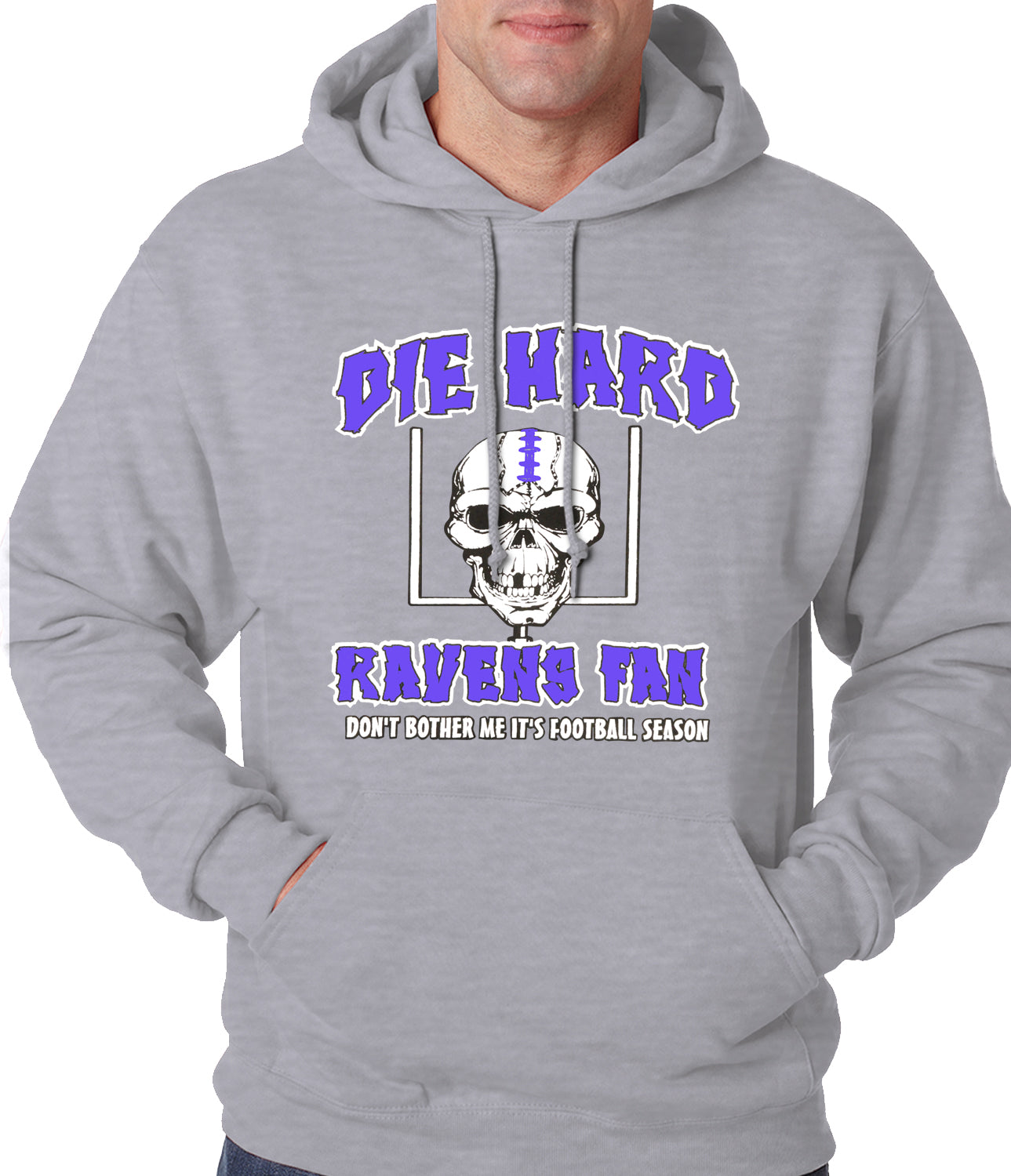 Die Hard Ravens Fan Football Adult Hoodie