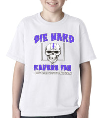 Die Hard Ravens Fan Football Kids T-shirt