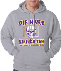 Die Hard Vikings Football Fan Adult Hoodie