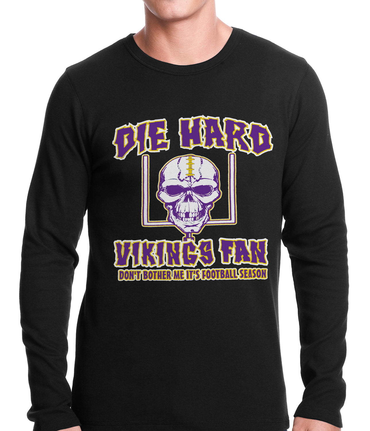 Die Hard Vikings Football Fan Thermal Shirt