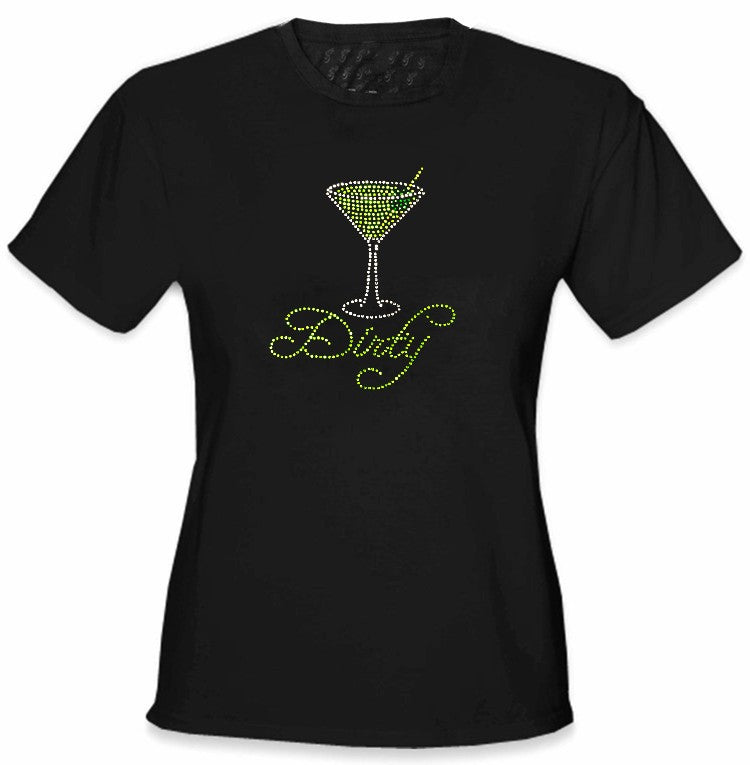 Dirty Martini Rhinestone Girls T-Shirt