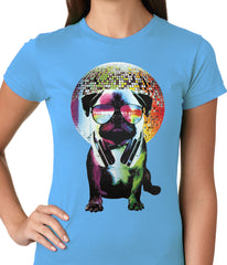 Disco Pug Ladies T-shirt