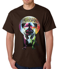 Disco Pug Mens T-shirt