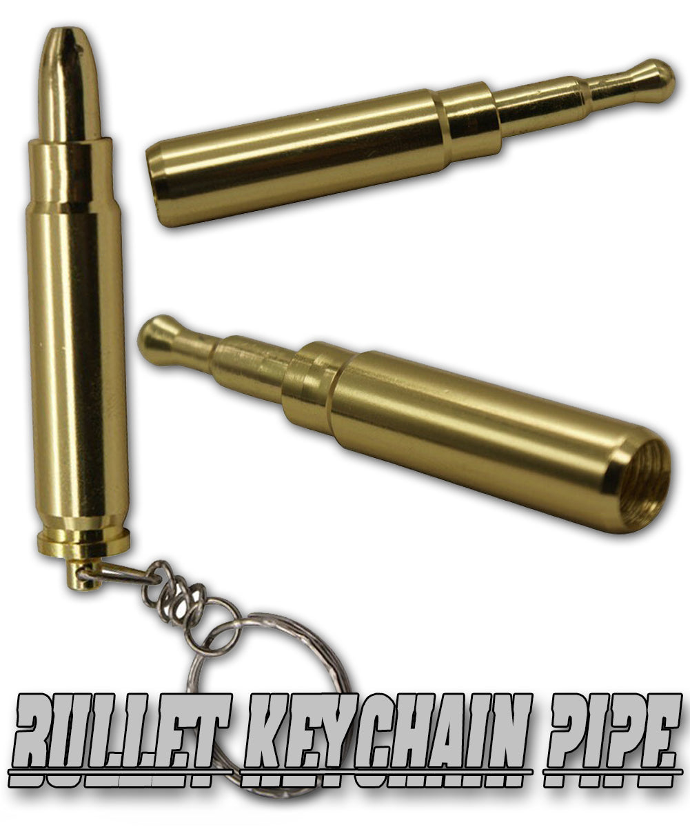 Discreet Bullet Keychain Pipe
