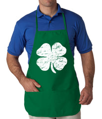 Distressed 4 Leaf Clover Apron