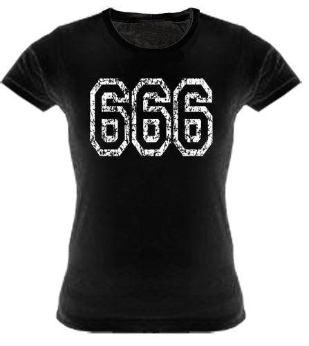Distressed 666 Girls T-Shirt