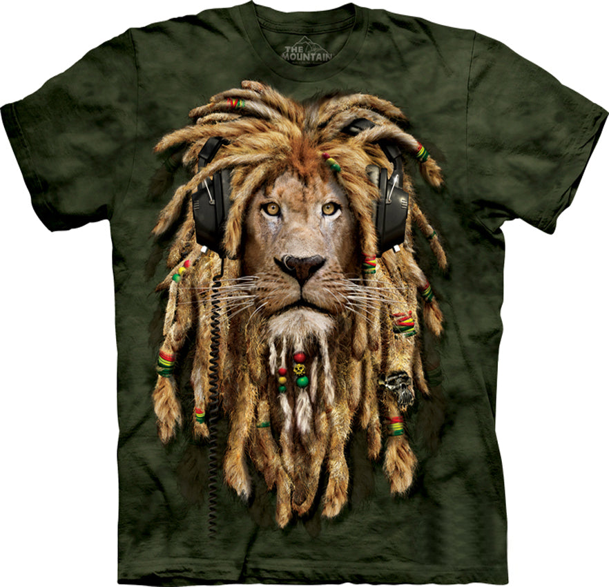 DJ Jahman Lion Big Face Men's T-Shirt