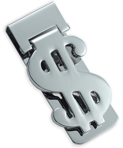 Dollar Sign Hinged Money Clip (Silver)