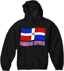 Dominican Republic Vintage Flag Adult Hoodie