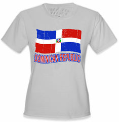 Dominican Republic Vintage Flag Girl's T-Shirt