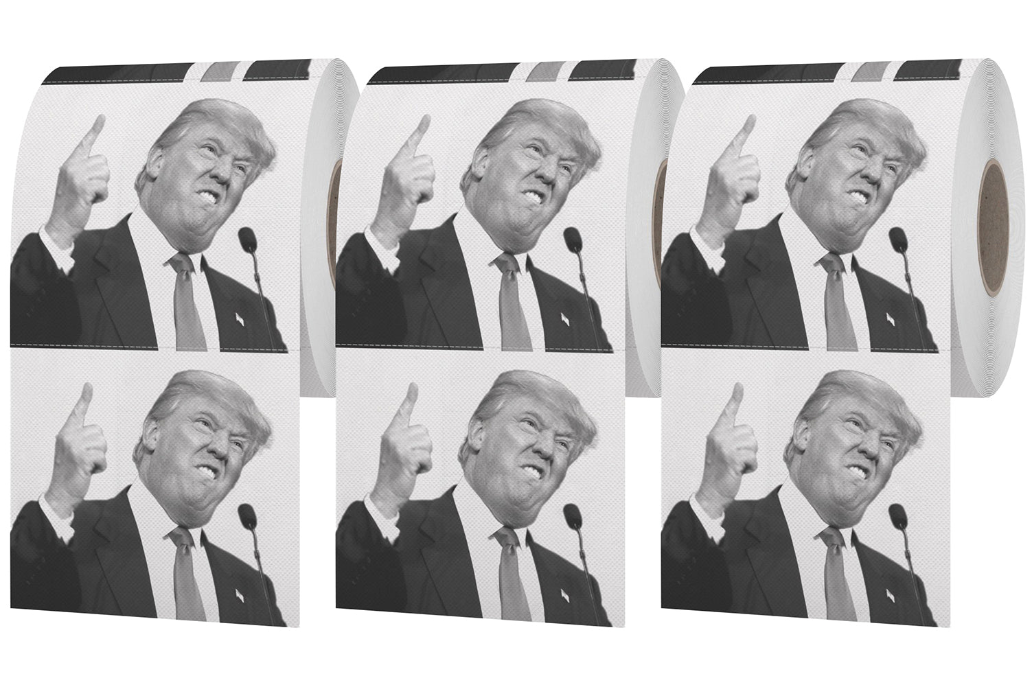 Donald Trump Pointing Toilet Paper - Dump with Trump