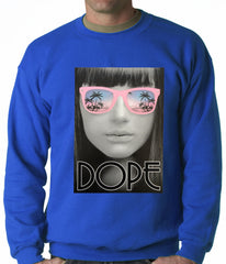 Dope Palm Tree Glasses Crewneck
