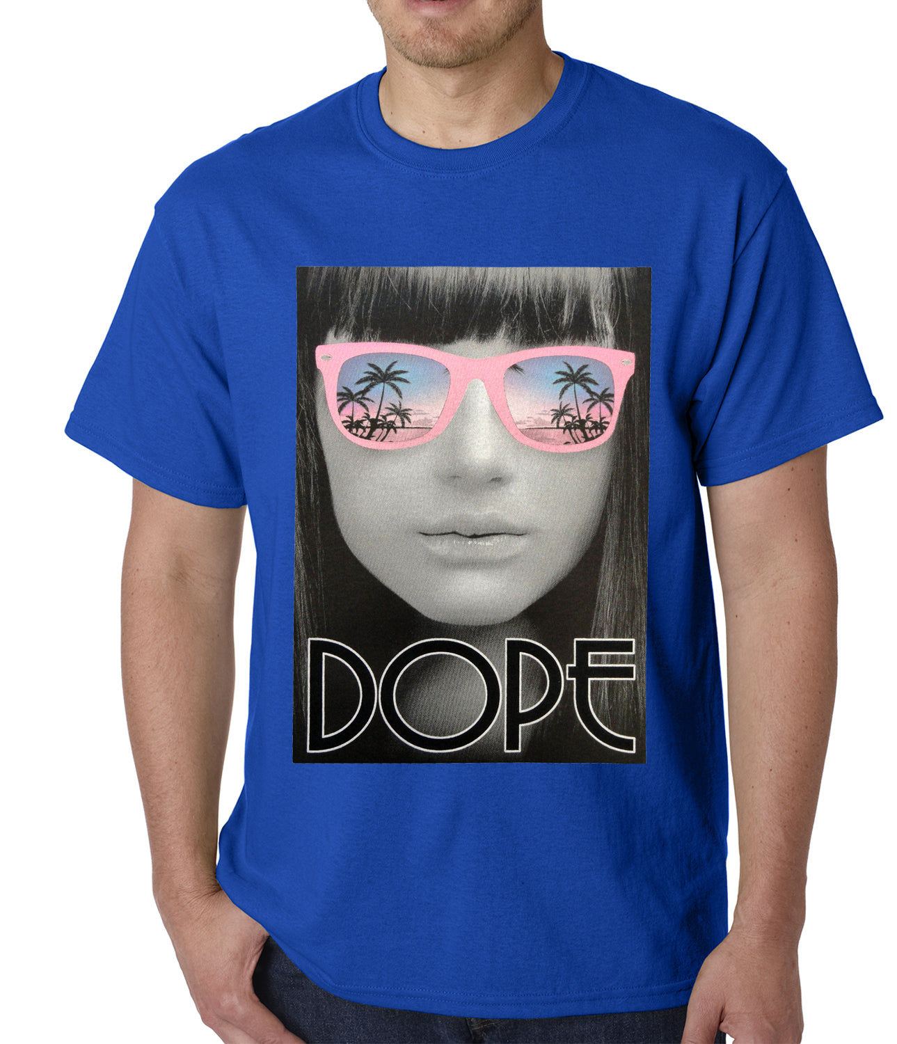 Dope Palm Tree Glasses Mens T-shirt