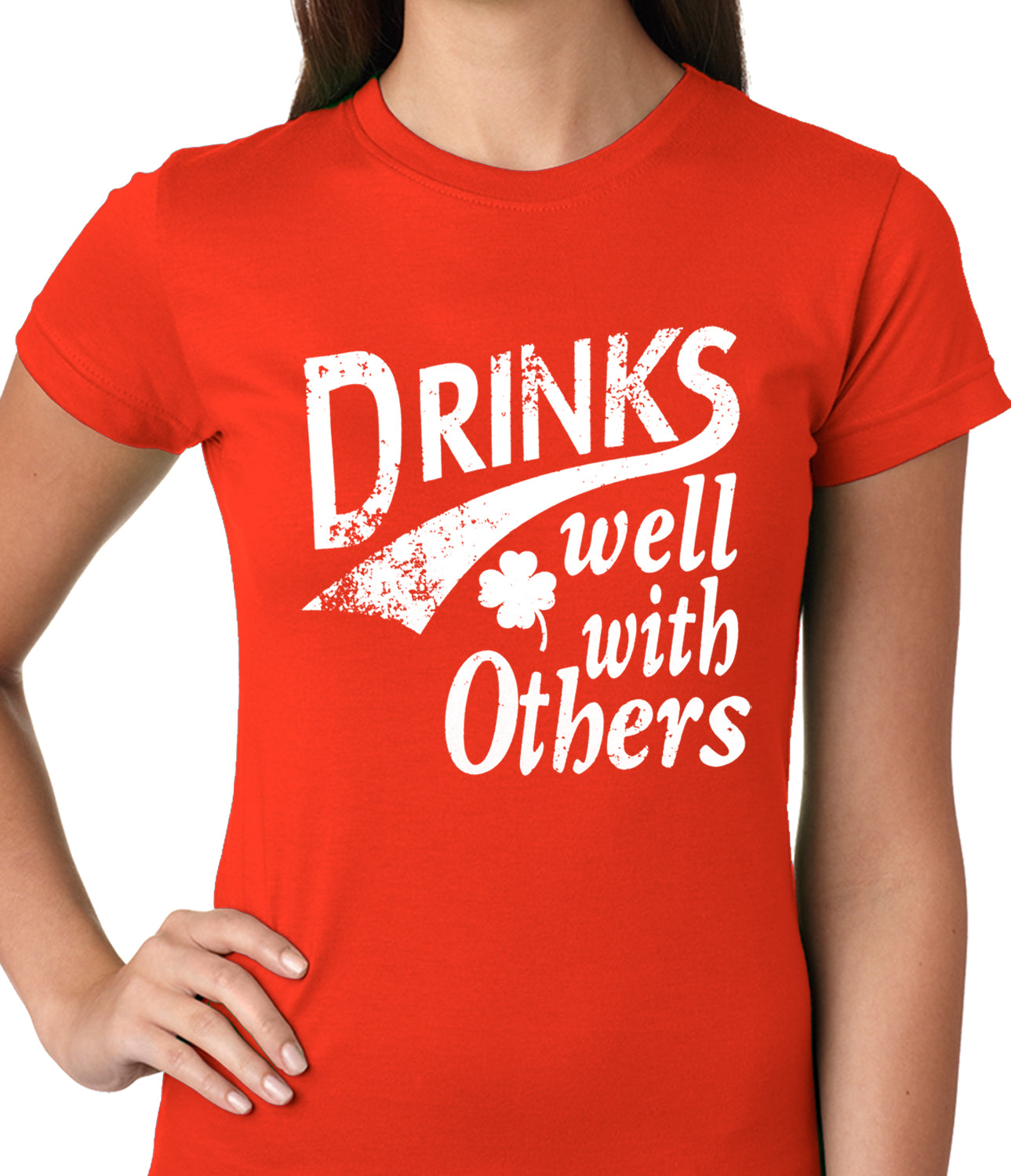 Drinks Well With Other Irish St. Patrick's Day Girls T-shirt