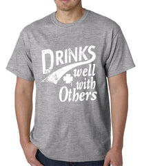 Drinks Well With Other Irish St. Patrick's Day Mens T-shirt