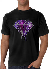 Dripping Purple Galaxy Diamond Men's T-Shirt