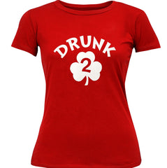 Drunk 2 Irish Shamrock Girl's T-Shirt