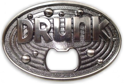 Drunk Bottle Opener Belt Buckle