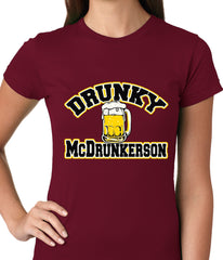 Drunky McDrunkerson Funny Ladies T-shirt