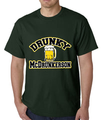 Drunky McDrunkerson Funny Mens T-shirt