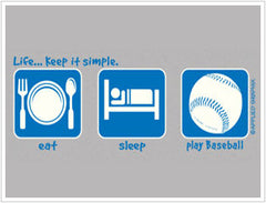 Eat, Sleep, Play Baseball T-Shirt