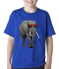 Elephant Wearing Sunglasses Kids T-shirt