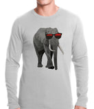 Elephant Wearing Sunglasses Thermal Shirt
