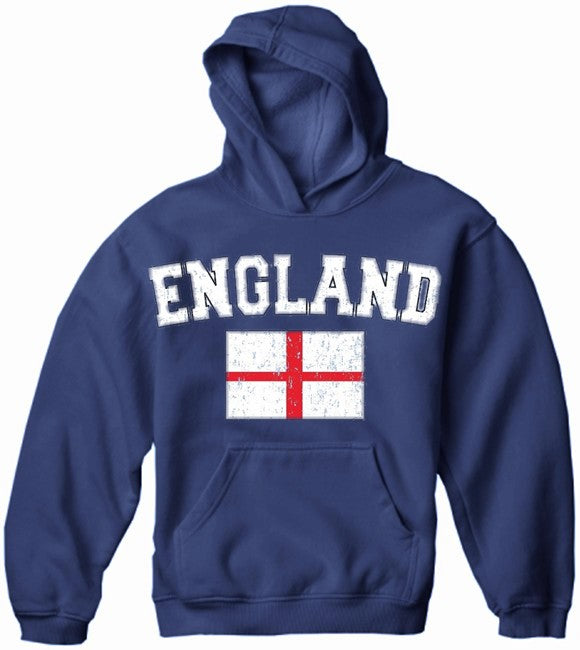 England Vintage Flag International Hoodie