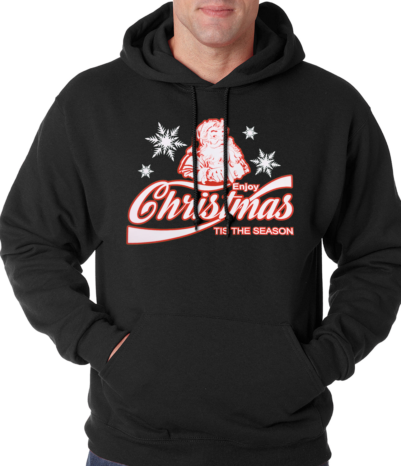 Enjoy Christmas Tis The Season Adult Hoodie