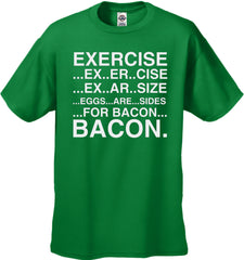 Exercise Eggs Are Sides For Bacon Men's T-Shirt