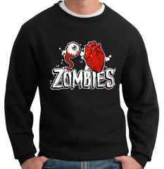 Eye Heart Zombies Adult Crewneck