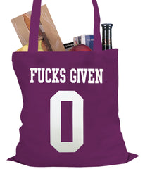 F*cks Given 0 Tote Bag