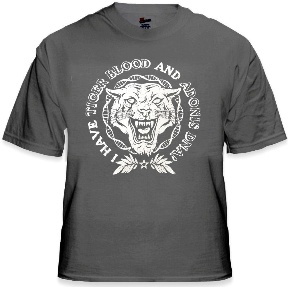 Famous  Quotes From Charlie Sheen T-Shirts - Tiger Blood Crest T-Shirt