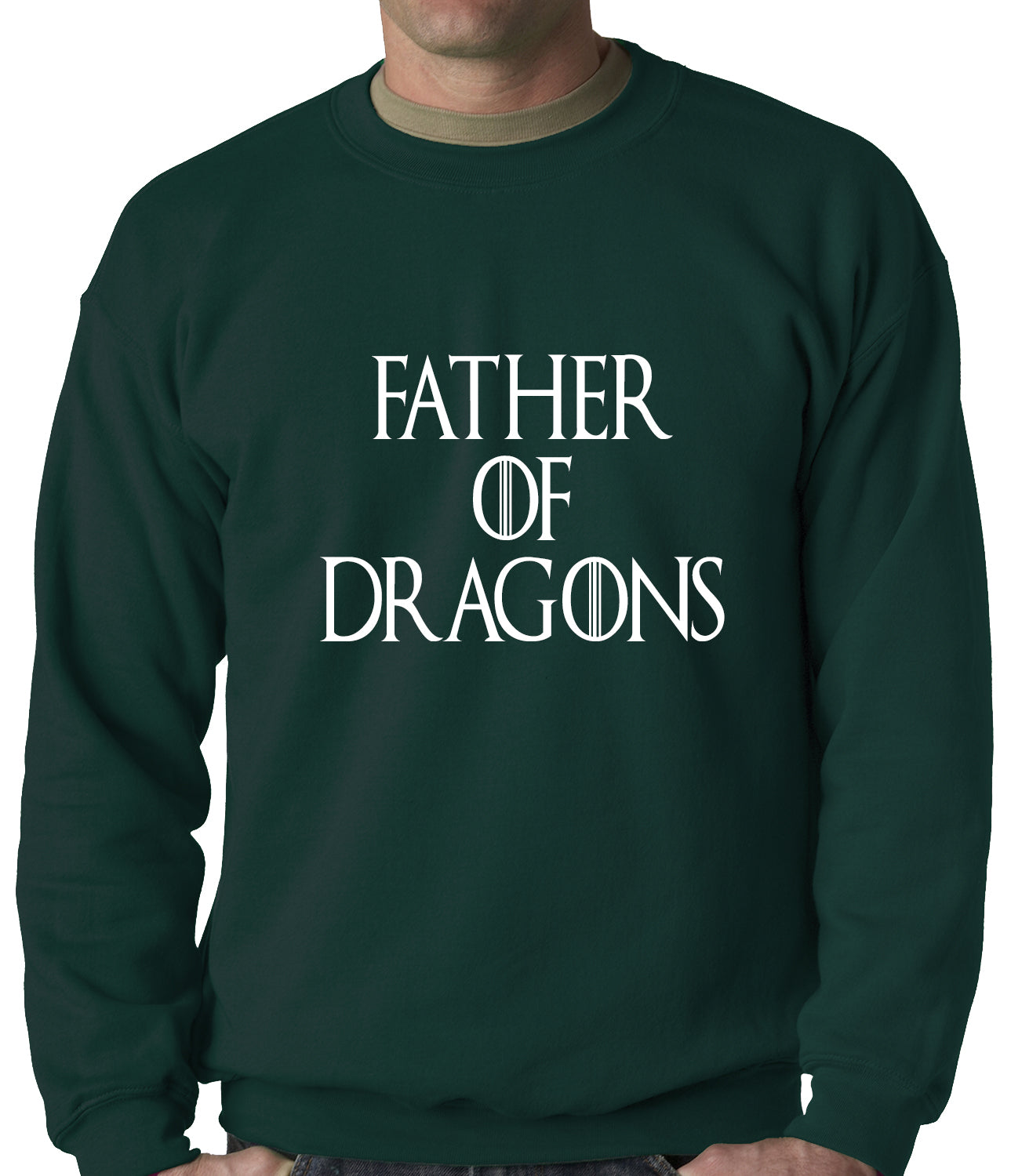 Father Of Dragons Adult Crewneck