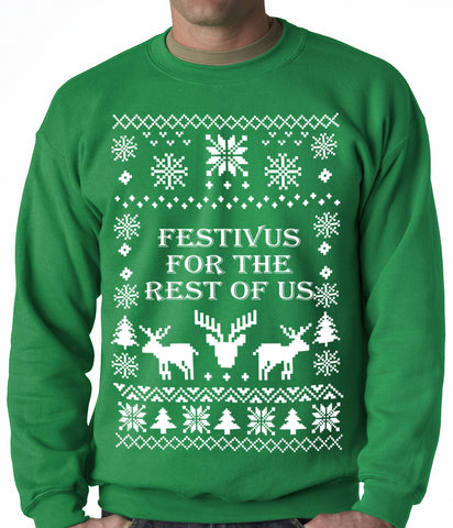 Festivus Ugly Christmas Sweater Crewneck Sweatshirt