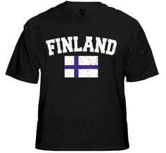 Finland Vintage Flag International Mens T-Shirt