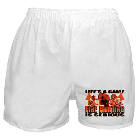 Fire Fighting Is Serious Boxer Shorts