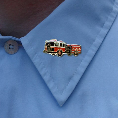 Fire Truck Pumper Lapel Pin
