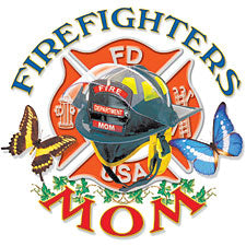 Firefighters Mom Girls T-Shirt